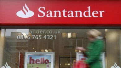 Santander reduce a la mitad su beneficio en Reino Unido en cuatro años