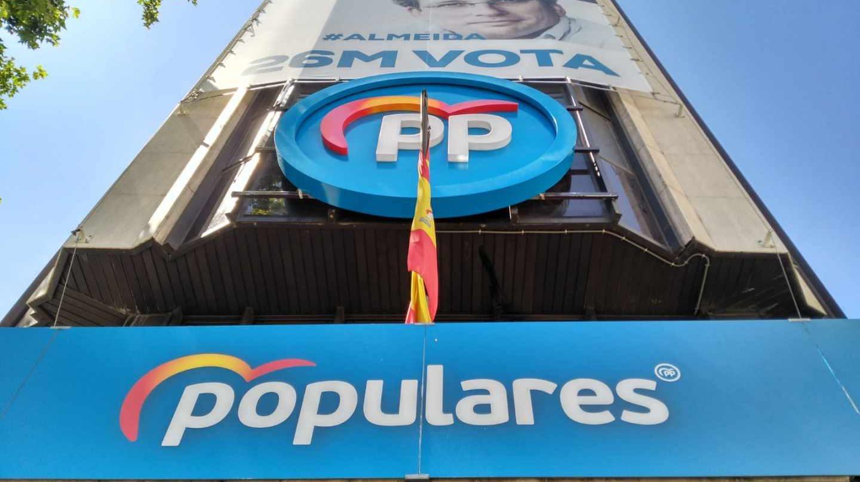 Sede del Partido Popular en la calle Génova de Madrid.