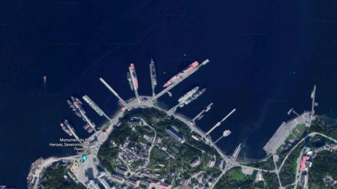 Base naval rusa en Severomorsk.