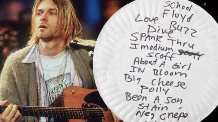 Plato de papel de Kurt Cobain.