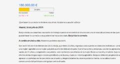 Campaña de crowdfounding lanzada por Vox para ayudar a pagar la multa de Borja.