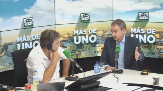 José Luis Rodríguez Zapatero, entrevistado por Carlos Alsina en Onda Cero.