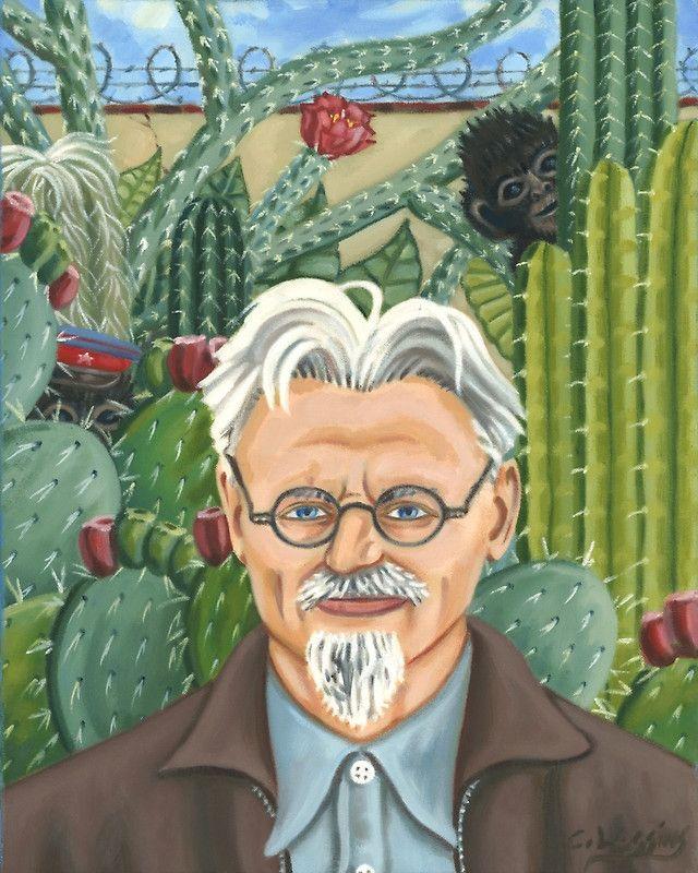 Retrato de León Trotsky, de Frida Kahlo