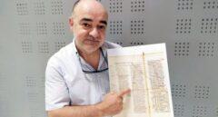 Gabriel Songel, el catedrático de la Universidad Politécnica de Valencia (UPV) que ha encontado un manuscrito que contiene el relicario de San Juan de la Peña