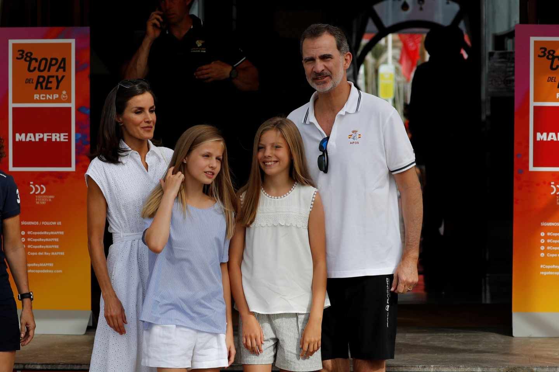 Familia Real en el club náutico de Palma