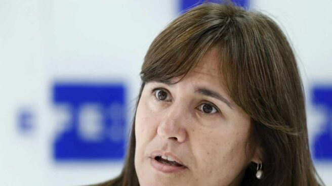 La portavoz de JxCat en el Congreso, Laura Borràs