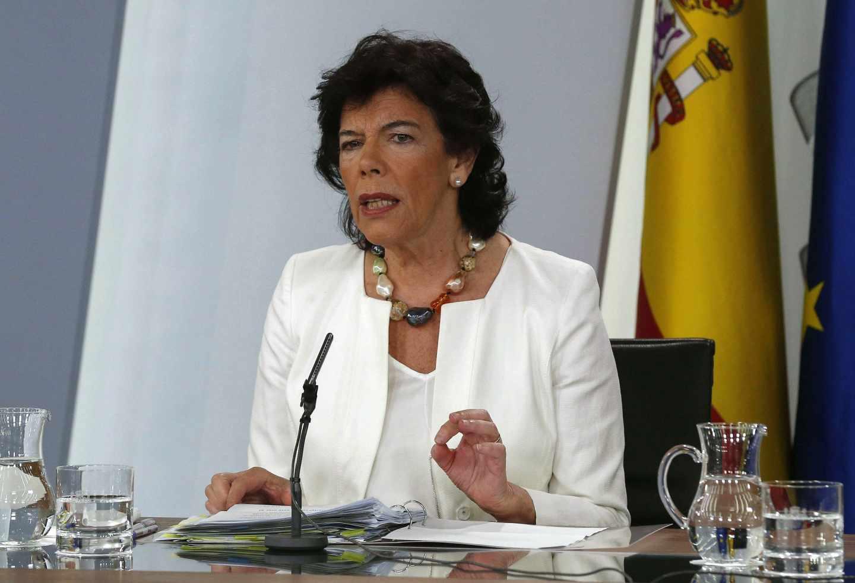 La ministra Portavoz Isabel Celáa.