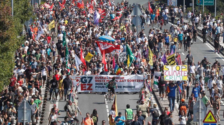 Manifestación contra el G7.