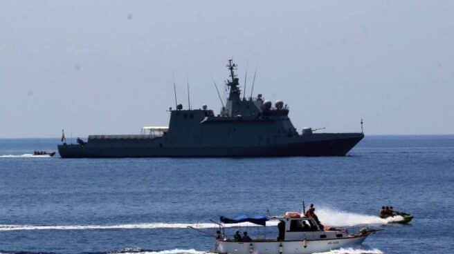 El buque Audaz de la Armada Española