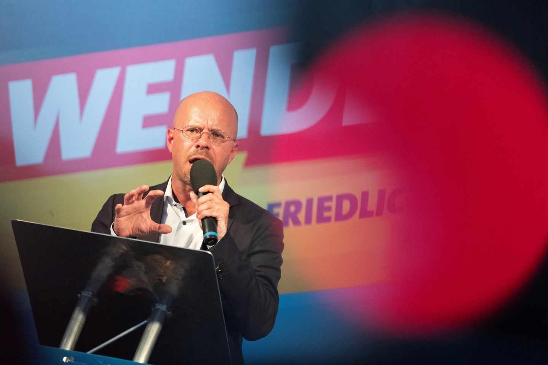 Andreas Kalbitz, candidato en Brandenurgo de Alternativa por Alemania (AfD).