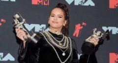 La cantante Rosalía en la alfombra roja de los MTV Music Awards