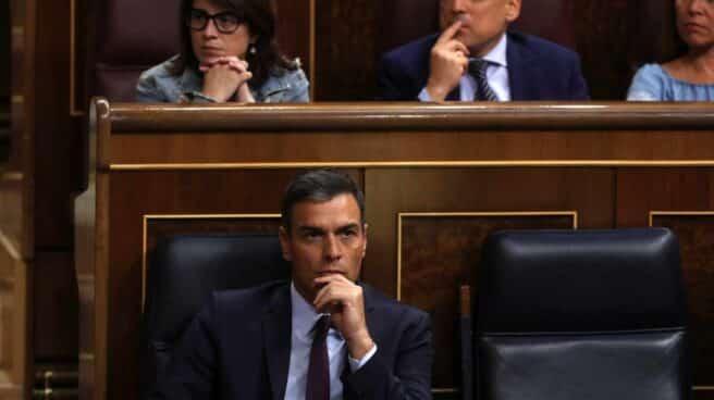 Pedro Sánchez, en el pleno extraordinario del Open Arms.