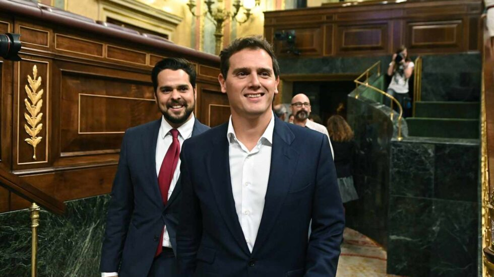 Albert Rivera, en el pleno del Open Arms.