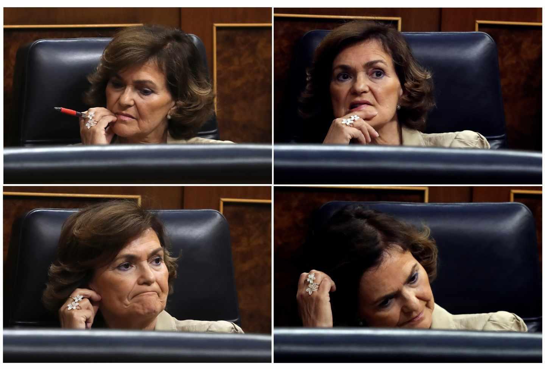 Carmen Calvo, en el pleno del Open Arms.