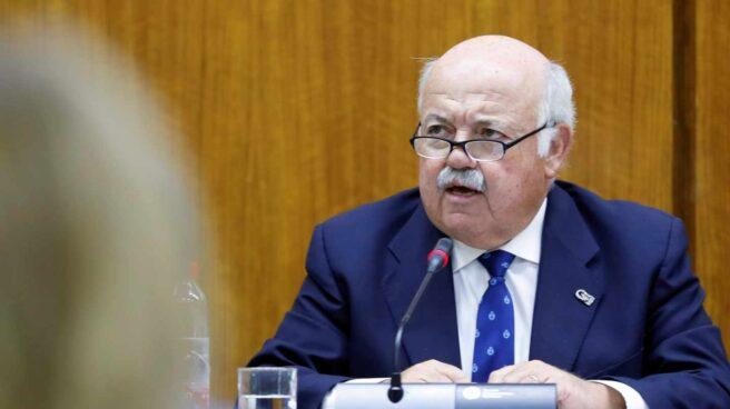 El consejero de Salud y Familias de Andalucía, Jesús Aguirre.