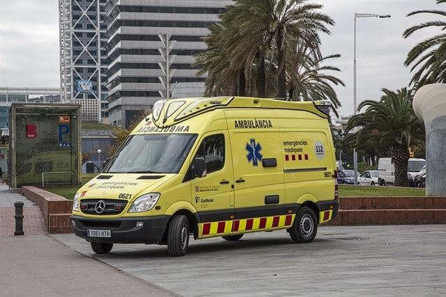 Una ambulancia del Servei d'Emergències Mèdiques (SEM)