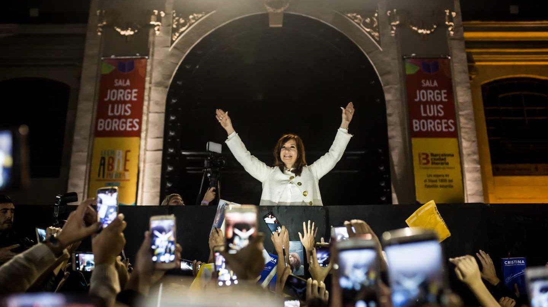 Cristina Fernández de Kirchner, en la presentación de su libro, 'Sinceramente'.