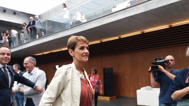 La líder del PSN, María Chivite, en el Parlamento de Navarra.