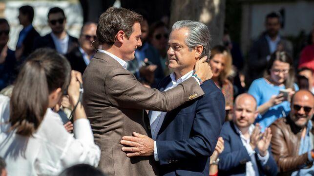El líder de Ciudadanos, Albert Rivera, y el actual diputado de la formación, Marcos de Quinto.