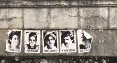 Foto de Irantzu Gallastegi junto a la de otros etarras.