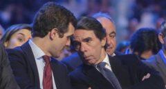 El líder del PP, Pablo Casado y el ex presidente del Gobierno José María Aznar