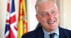El embajador británico, Simon Manley, durante la entrevista con El Independiente en su despacho