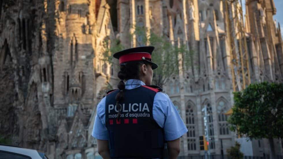 Una mosso de Esquadra, en Barcelona.