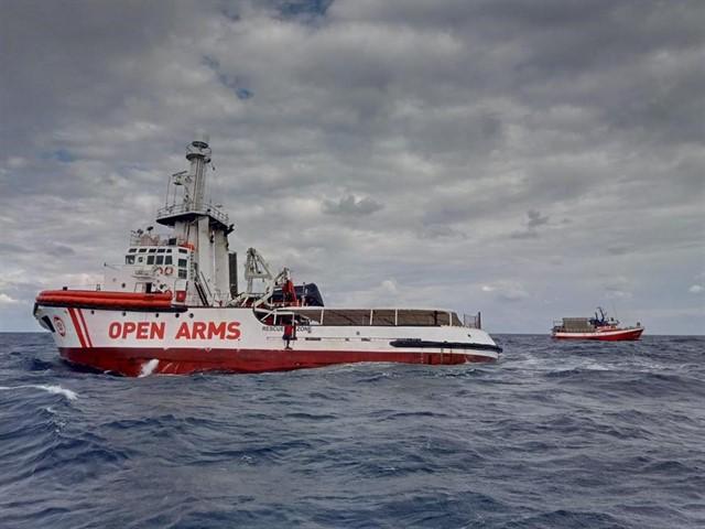 Fotografía de archivo del barco Open Arms