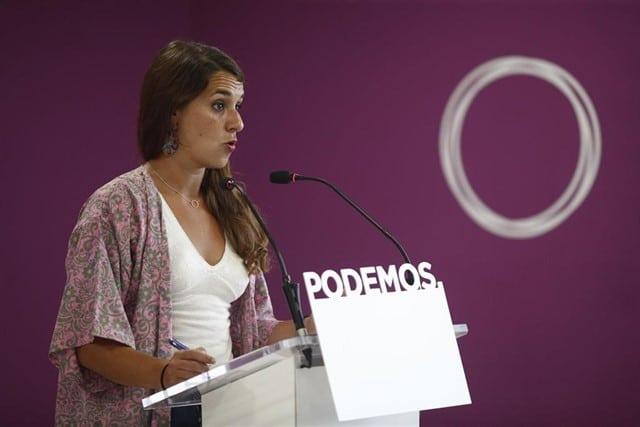 La portavoz del Consejo de Coordinación de Podemos, Noelia Vera