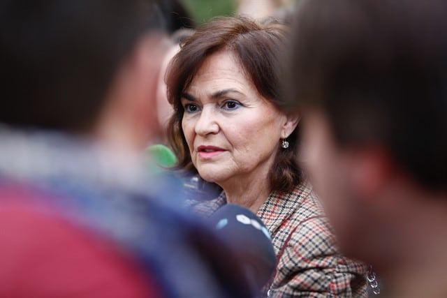 La vicepresidenta, Carmen Calvo