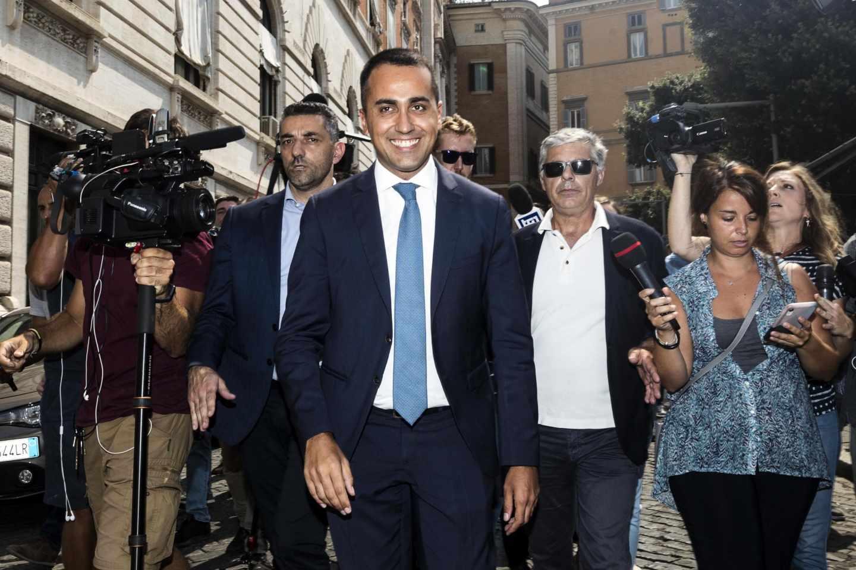 l líder del Movimiento 5 Estrellas, Luigi di Maio, antes de su encuentro con el número uno de PD, Nicola Zingaretti, en Roma.