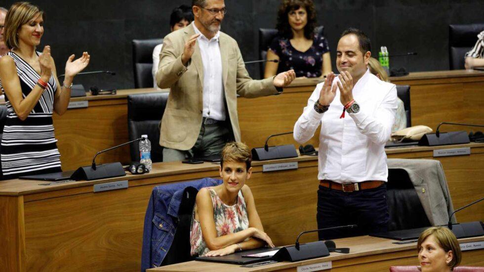 La secretaria general del PSN-PSOE, María Chivite, ha sido elegida este viernes por el Parlamento de Navarra presidenta del Gobierno Foral