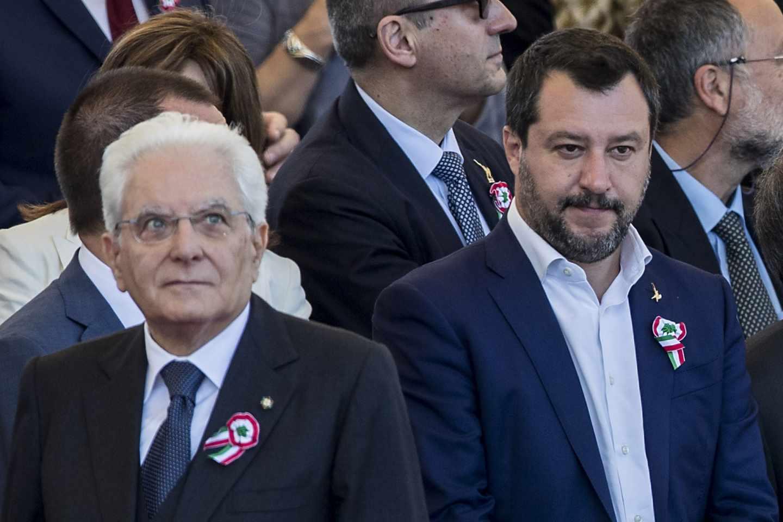 El presidente Sergio Mattarella y el ministro del Interior, Matteo Salvini, el día de la República.