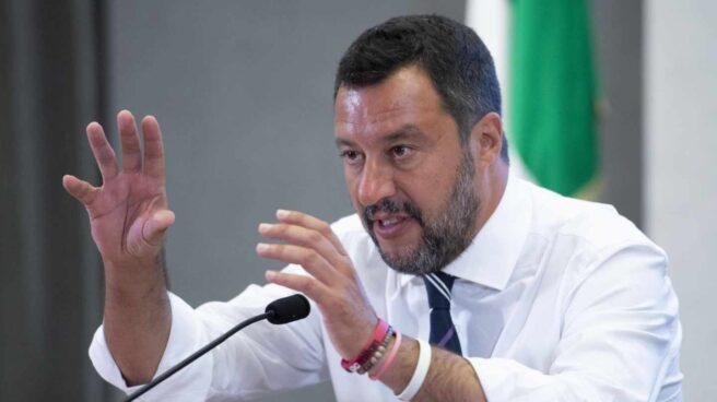 Matteo Salvini, ministro del Interior y líder de la Liga, en una rueda de prensa en Roma.