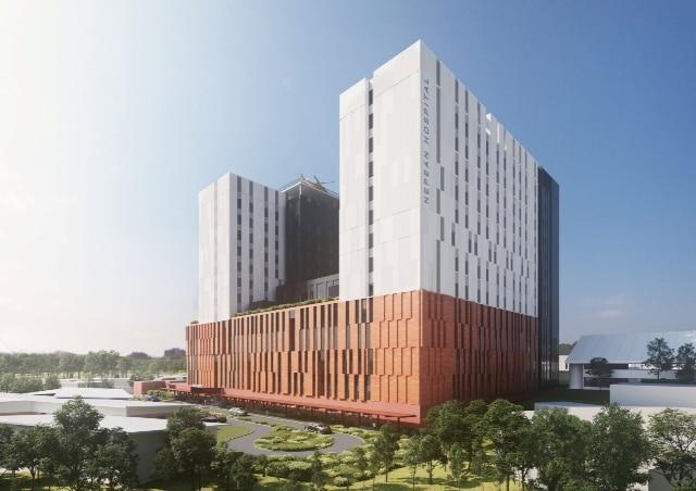 Proyecto de ampliación del Nepean Hospital, en Nueva Gales del Sur.