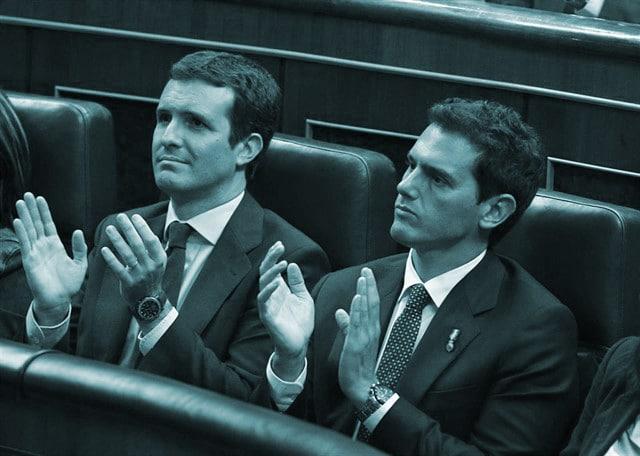 Pablo Casado y AlbePablo Casado y Albert Rivera, en el Congreso de los Diputados.rt Rivera, en el Congreso de los Diputados.