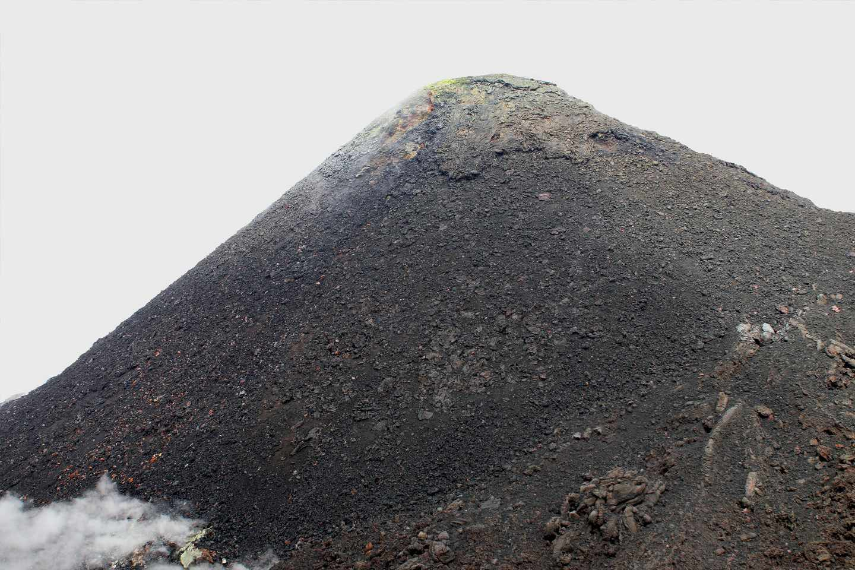 Detalle del cráter del Pacaya