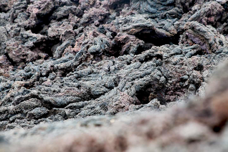 Detalle de la lava petrificada