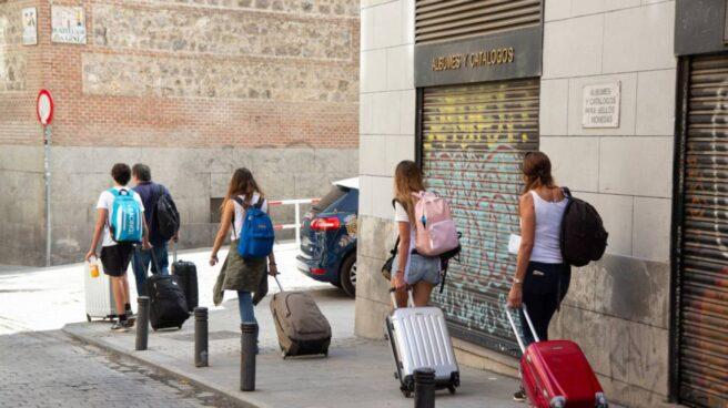 Turistas en una calle de Madrid.