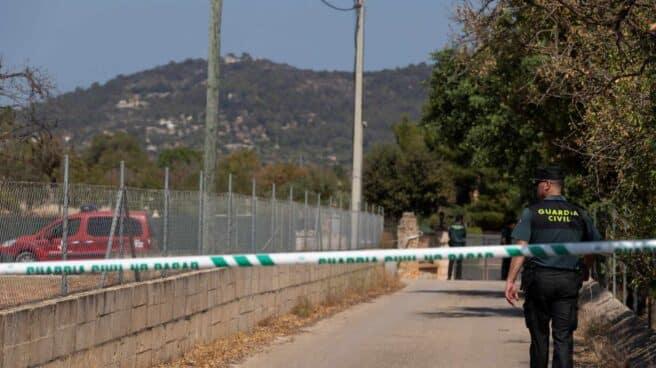 Zona en la que han caído los aparatos siniestrados en el accidente aéreo de Mallorca.
