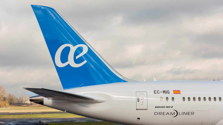 Un avión de la aerolínea Air Europa.