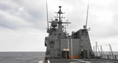 El buque Audaz, en plena travesía por el Mediterráneo hacia la costa de Lampedusa.