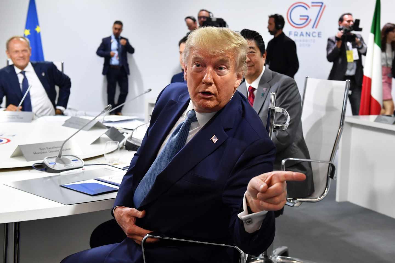 El presidente de los Estados Unidos, Donald Trump, durante las reuniones del G-7.