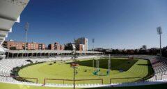 El estadio de Vallehermoso, vacío horas antes de su reinauguración.