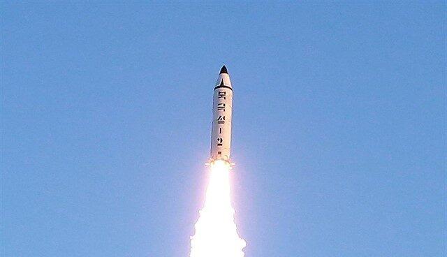 Imagen de archivo de un proyectil norcoreano