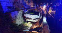 Vehículo accidentado en Vigo