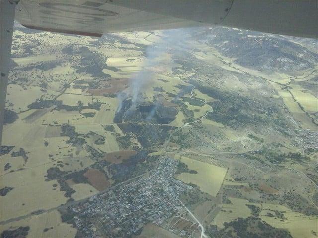 Incendio forestal en Loranca de Tajuña (Guadalajara).