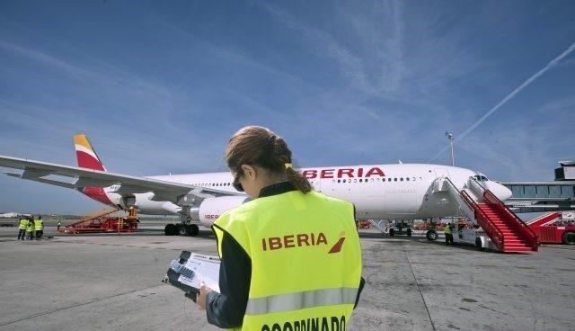 Personal de 'handling' de Iberia.