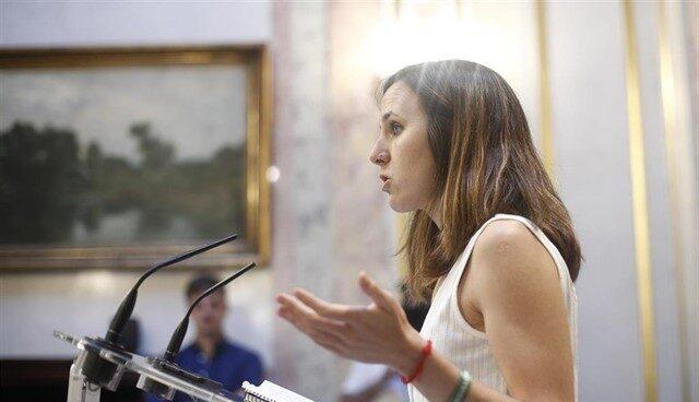 La portavoz adjunta de Unidas Podemos, Ione Belarra.