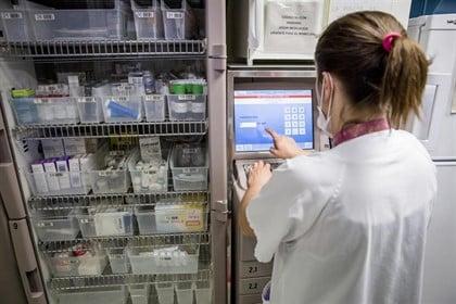 Enfermera en el Hospital Universitario Vall d'Hebron.
